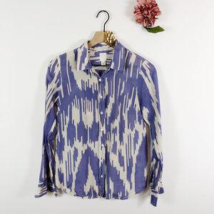 [J. CREW] The Perfect Shirt Button Up Silk Blend